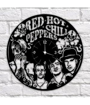 """Часы """"Red Hot Chili Peppers"""" из виниловой пластинки"""