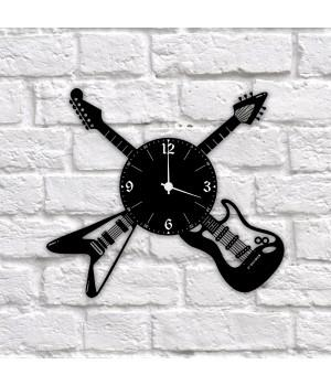 """Часы """"Гитары"""" из виниловой пластинки"""