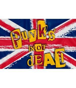 "Флаг ""Punk's Not Dead"""