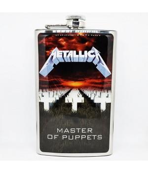 """Фляга стальная """"Metallica"""" 10 oz"""
