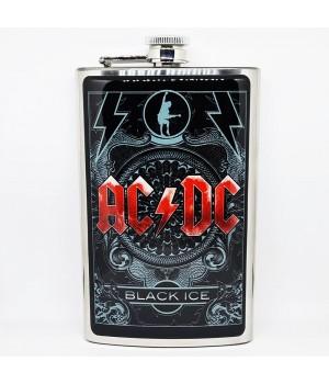 """Фляга стальная """"AC/DC"""" 10 oz"""