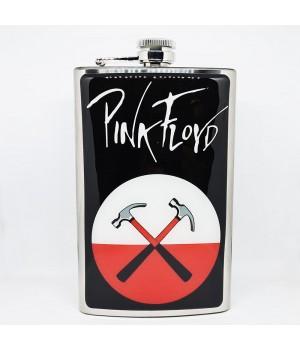 """Фляга стальная """"Pink Floyd"""" 10 oz"""