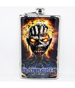 "Фляга стальная ""Iron Maiden"" 10 oz"