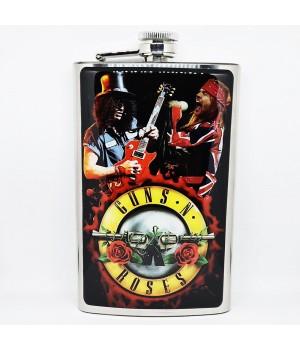 """Фляга стальная """"Guns N' Roses"""" 10 oz"""
