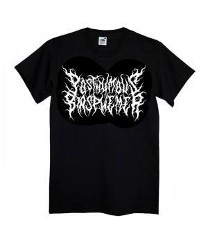 """Футболка """"Posthumous Blasphemer"""" (белый логотип)"""