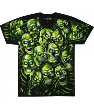 """Футболка """"Skull Pile Green"""" (светится в темноте)"""