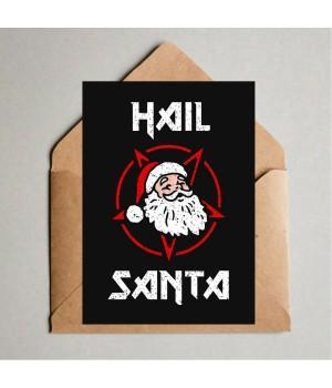 """Открытка """"Hail Santa"""""""