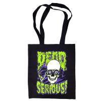 """Сумка-шоппер """"Dead Serious"""" черная"""