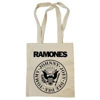 "Сумка-шоппер ""Ramones"" бежевая"