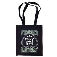 """Сумка-шоппер """"Obey the Brave"""" черная"""