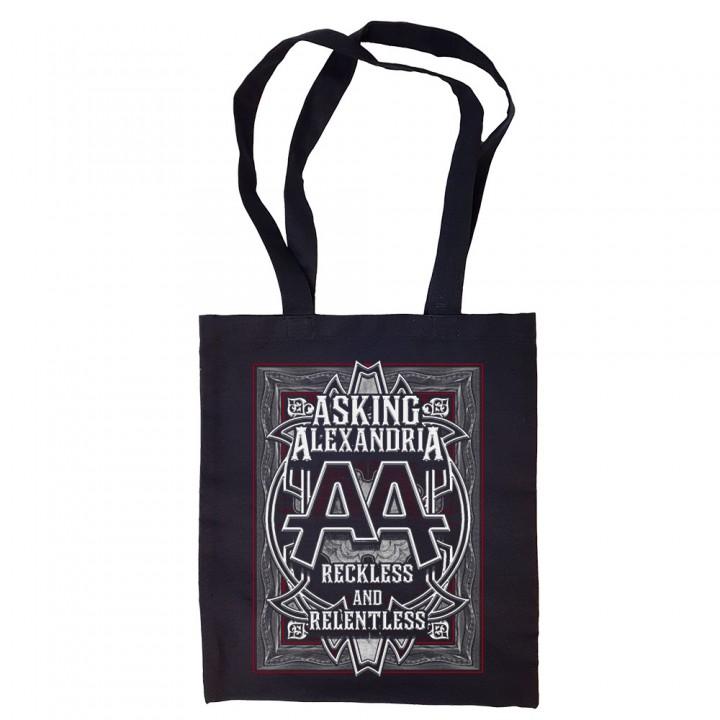 """Сумка-шоппер черная """"Asking Alexandria"""" (16601)"""
