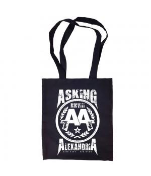 """Сумка-шоппер """"Asking Alexandria"""" черная"""