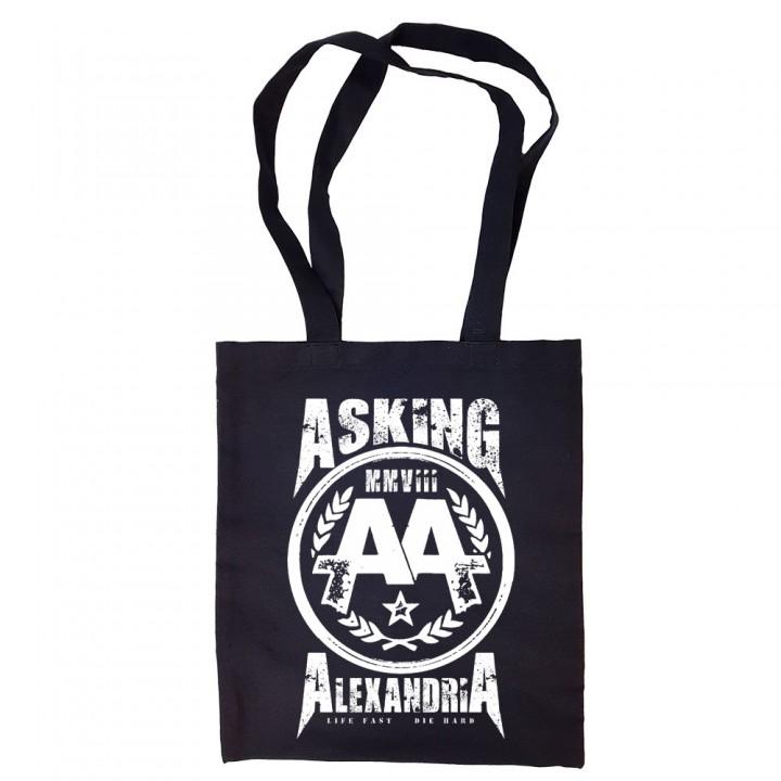 """Сумка-шоппер черная """"Asking Alexandria"""" (16602)"""