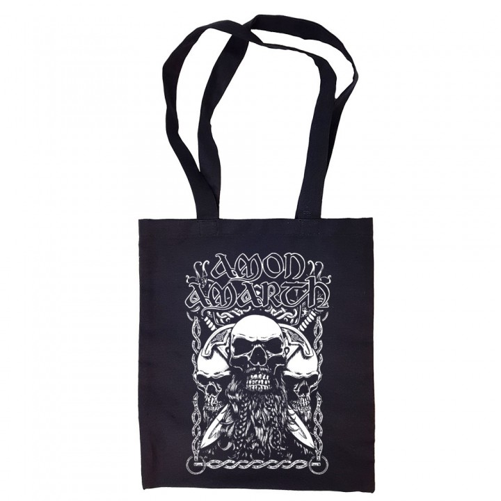 "Сумка-шоппер черная ""Amon Amarth"" (16595)"