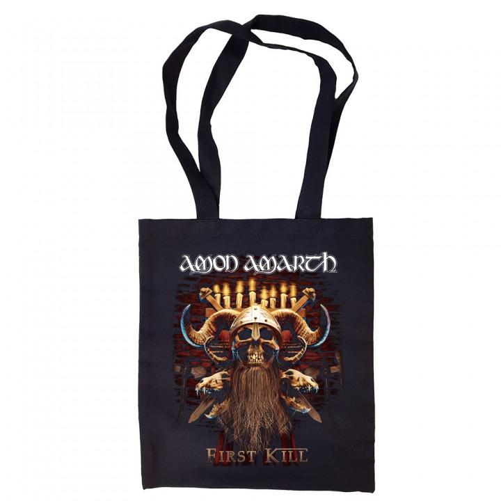 "Сумка-шоппер черная ""Amon Amarth"" (16596)"