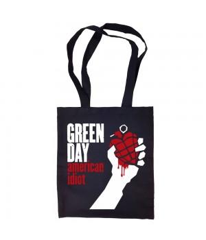 """Сумка-шоппер """"Green Day"""" черная"""