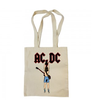 "Сумка-шоппер ""AC/DC"" бежевая"