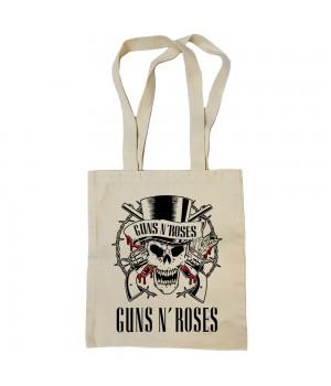 """Сумка-шоппер """"Guns N' Roses"""" бежевая"""