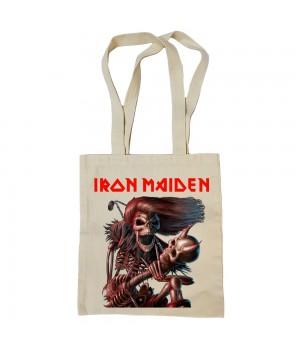 """Сумка-шоппер """"Iron Maiden"""" бежевая"""