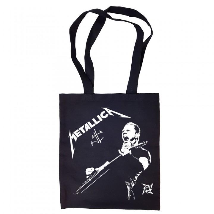 """Сумка-шоппер черная """"Metallica"""" (16507)"""