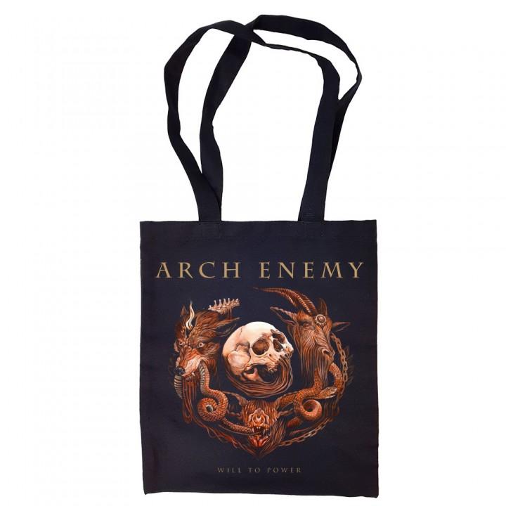 "Сумка-шоппер черная ""Arch Enemy"" (16599)"