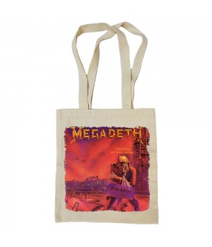 "Сумка-шоппер ""Megadeth"" бежевая"