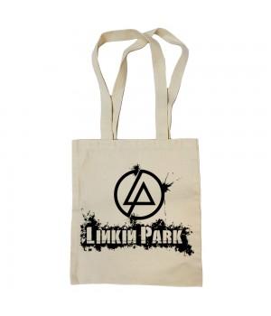 "Сумка-шоппер ""Linkin Park"" бежевая"