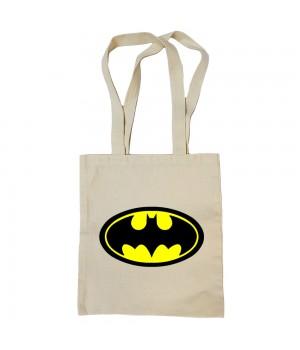 """Сумка-шоппер """"Batman (Бэтмен)"""" бежевая"""