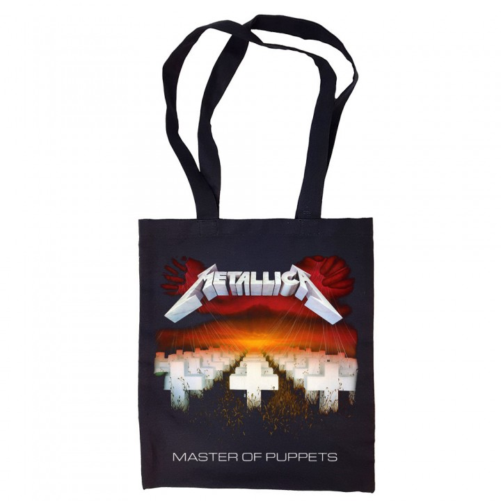 """Сумка-шоппер черная """"Metallica"""" (16705)"""
