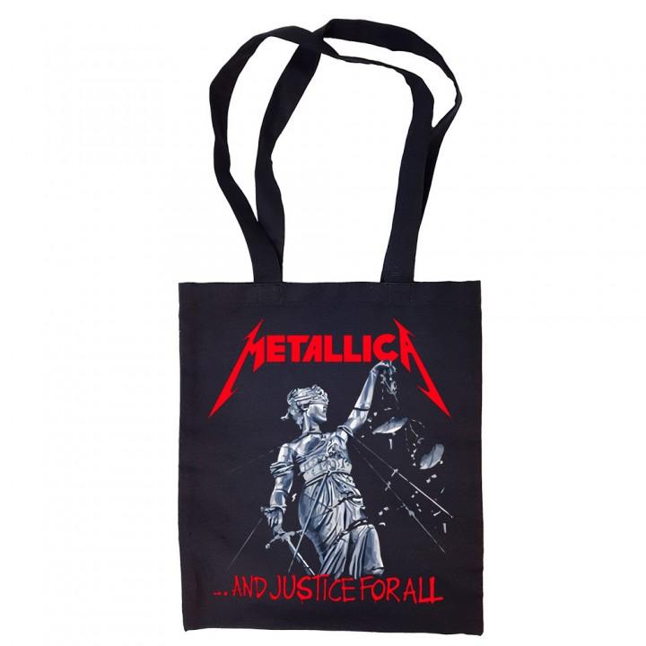 """Сумка-шоппер черная """"Metallica"""" (16704)"""