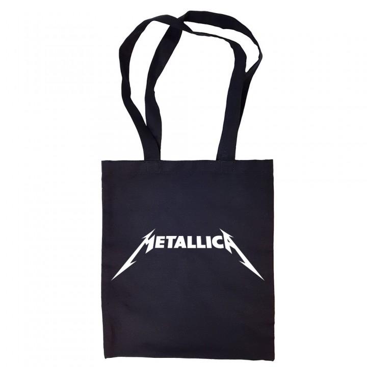 """Сумка-шоппер черная """"Metallica"""" (16700)"""
