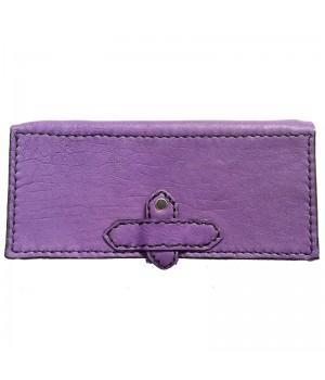 Кошелек кожаный фиолетовый