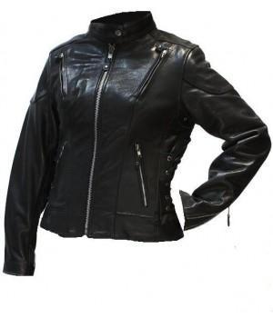 Куртка кожаная First женская L118