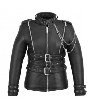Куртка кожаная First женская L118 CC
