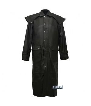 "Плащ кожаный First мужской ""М-903 Duster Coat"""