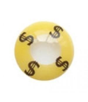 """Линзы желтые """"$"""""""