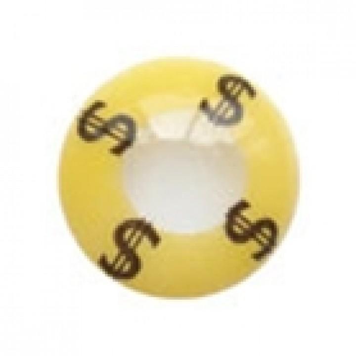 """Линзы желтые """"$"""" (312)"""