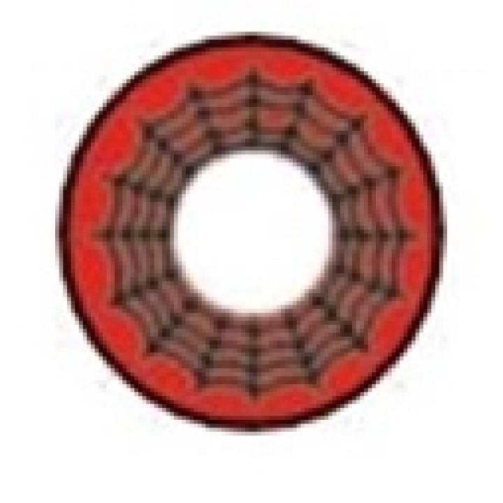 """Линзы красные """"Паутина"""" (334)"""