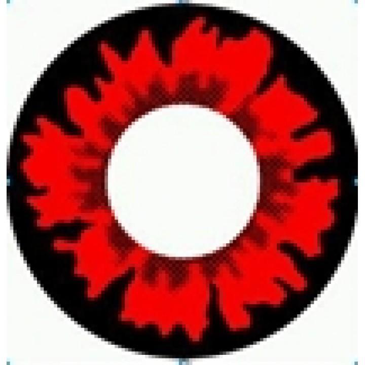 """Линзы красные """"Узор"""" (348)"""