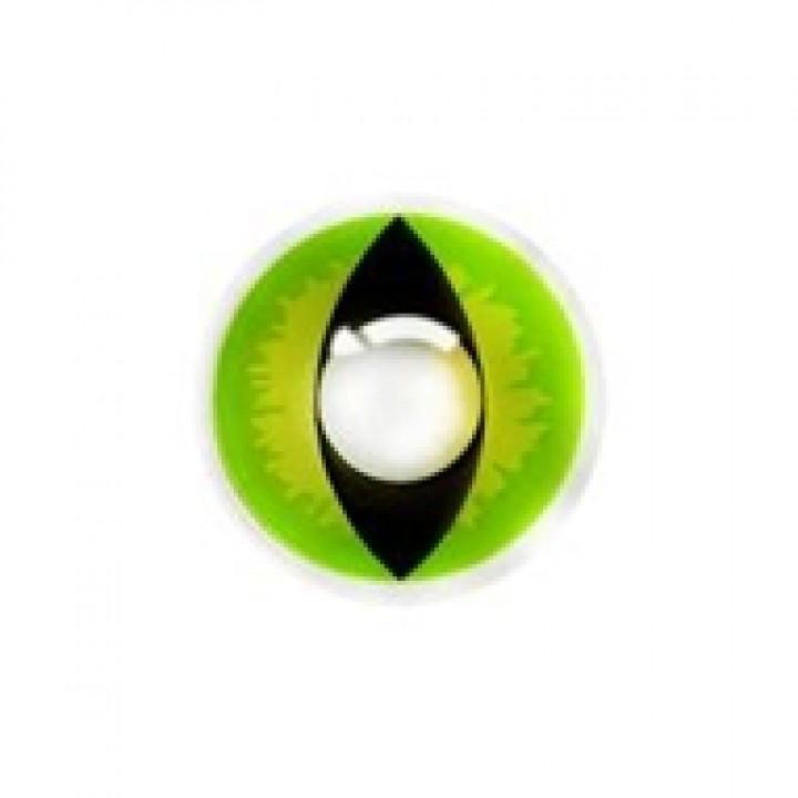 """Линзы зеленые """"Кошачий глаз"""" (360)"""