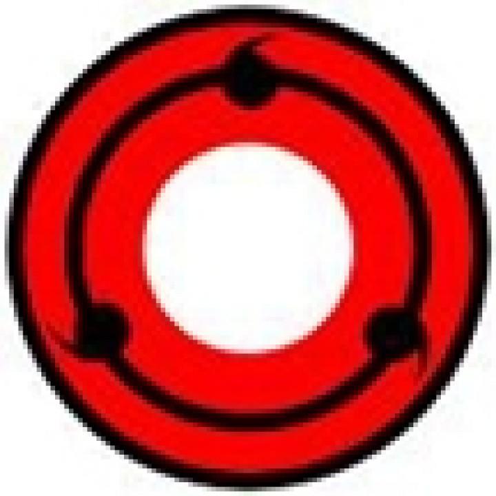 """Линзы красные """"Узор"""" (368)"""