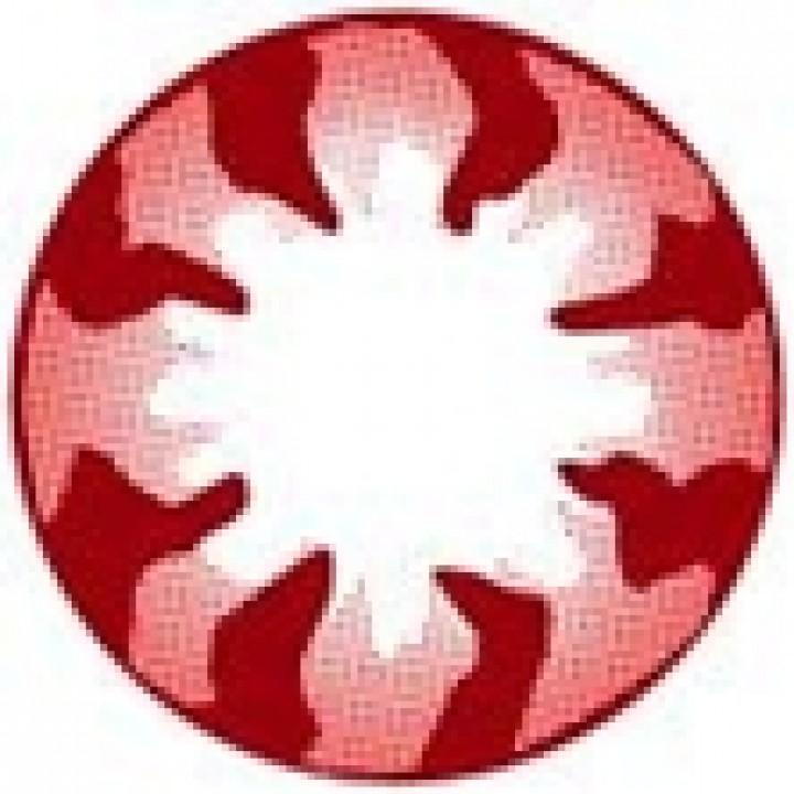 """Линзы красные """"Узор"""" (377)"""
