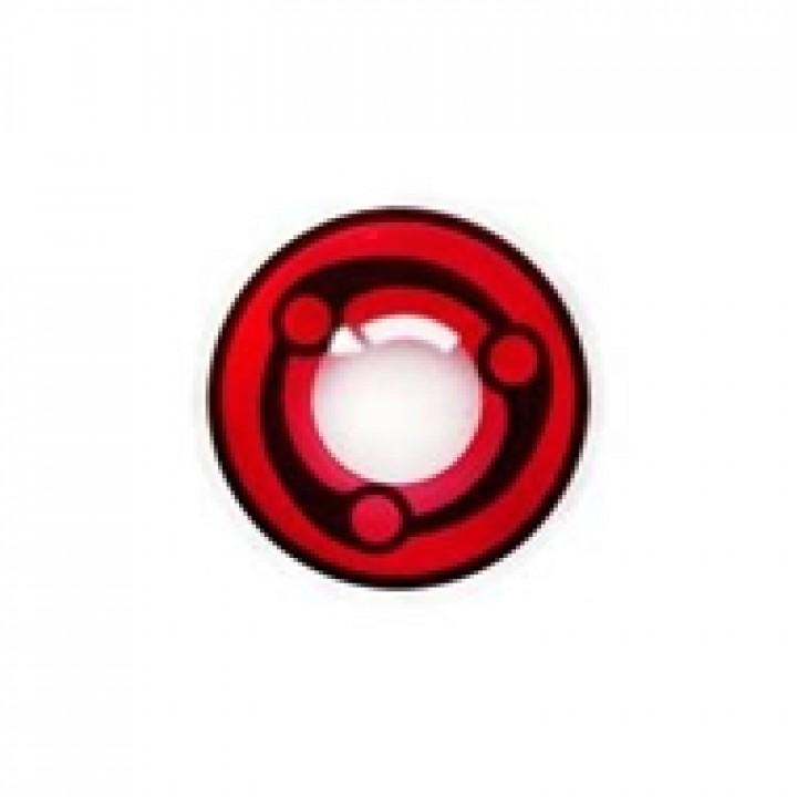 """Линзы красные """"Узор"""" (383)"""