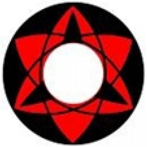 """Линзы красные """"Узор"""" (385)"""