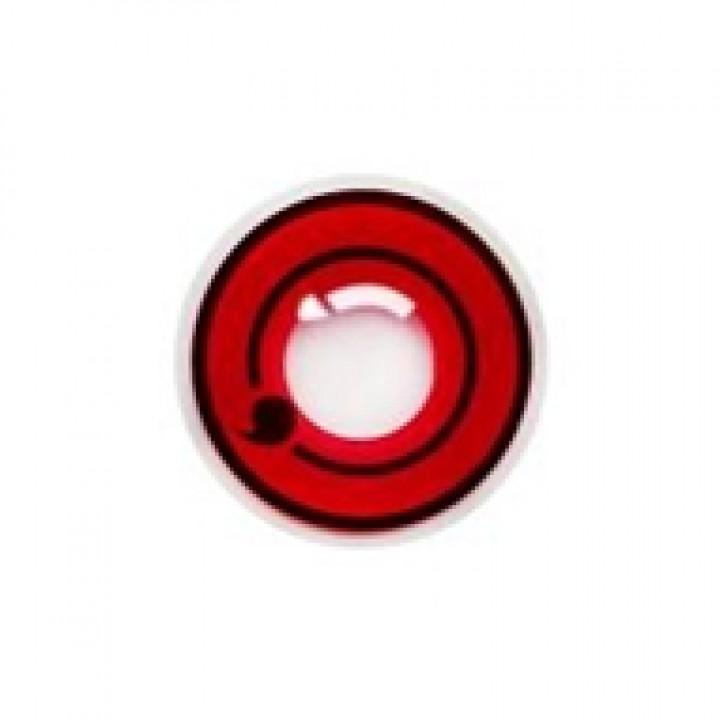 """Линзы красные """"Узор"""" (386)"""