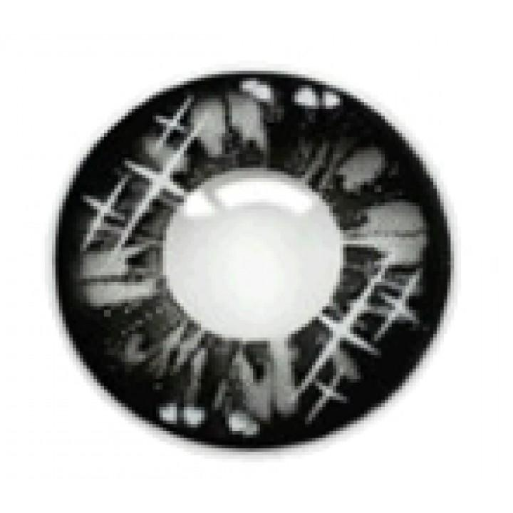 """Линзы черные """"Узор"""" (406)"""