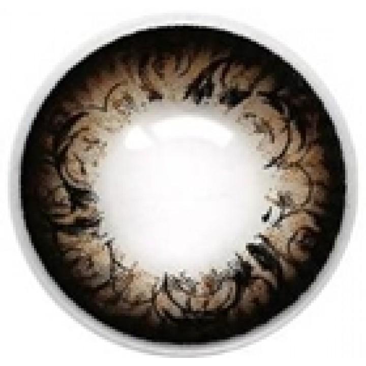 "Линзы коричневые ""Узор"" (410)"
