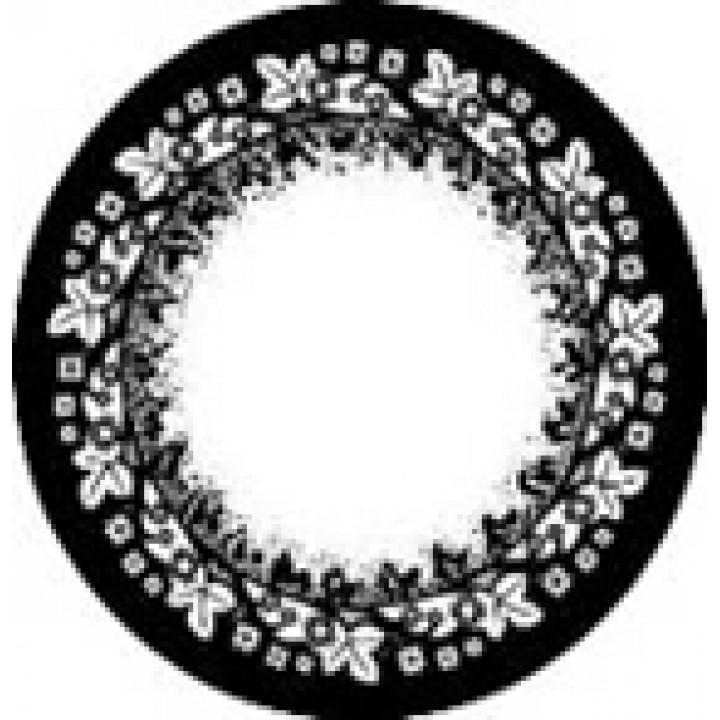 """Линзы черные """"Узор"""" (432)"""