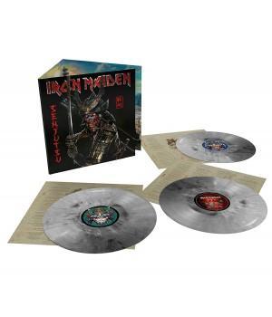 "Виниловая пластинка Iron Maiden ""Senjutsu"" (3LP) Silver & Black Marble"
