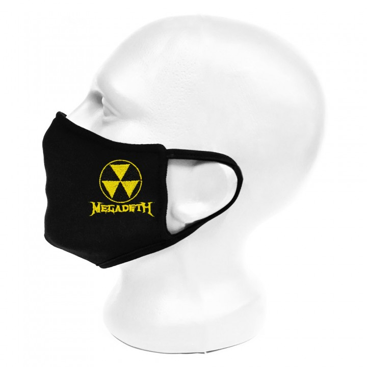 """Маска для лица черная защитная двухслойная """"Megadeth"""" (16376)"""